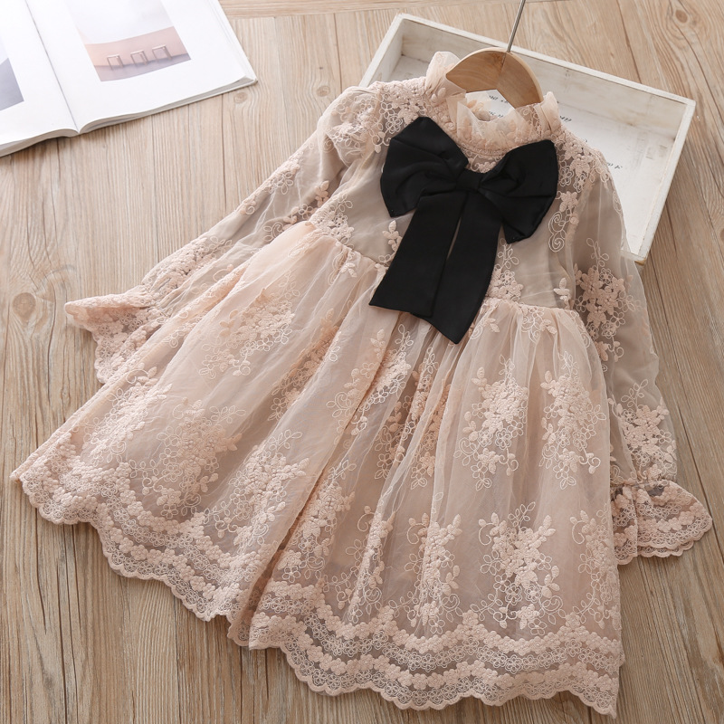 Girls Dress Princess Party Dress Children's Elegant Lace Long Sleeves Dresses Baby Clothes Casual 3 8 Yrs Kids Dresses for Girls 3