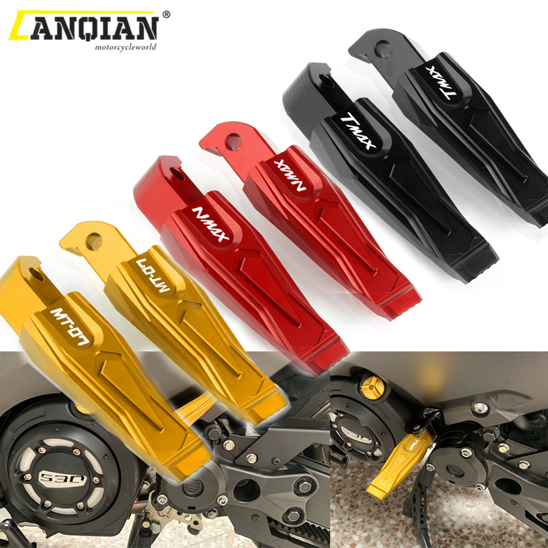 Motorcycle Rear Foot Pegs Rests Passenger Footrests For Yamaha T-MAX 500 530 XP TMAX 530 Dx Sx 2012-2019 NMAX 155 MT07 MT 07 FZ