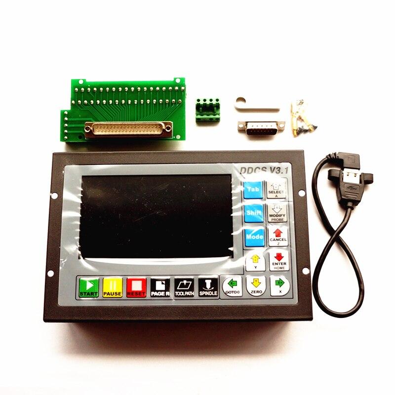 500 kHz CNC 4 ejes Máquina de grabado Código G de control de movimiento controlador de motor paso a paso Reino Unido
