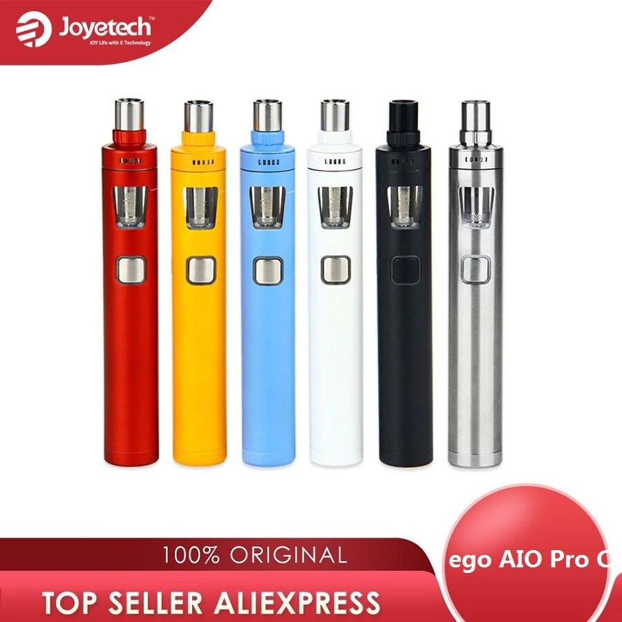 Kit de démarrage Original Joyetech ego AIO Pro C avec réservoir de 4ml Kit de Cigarettes électroniques tout-en-un Kit de cigarette électronique sans batterie 18650 e-cig