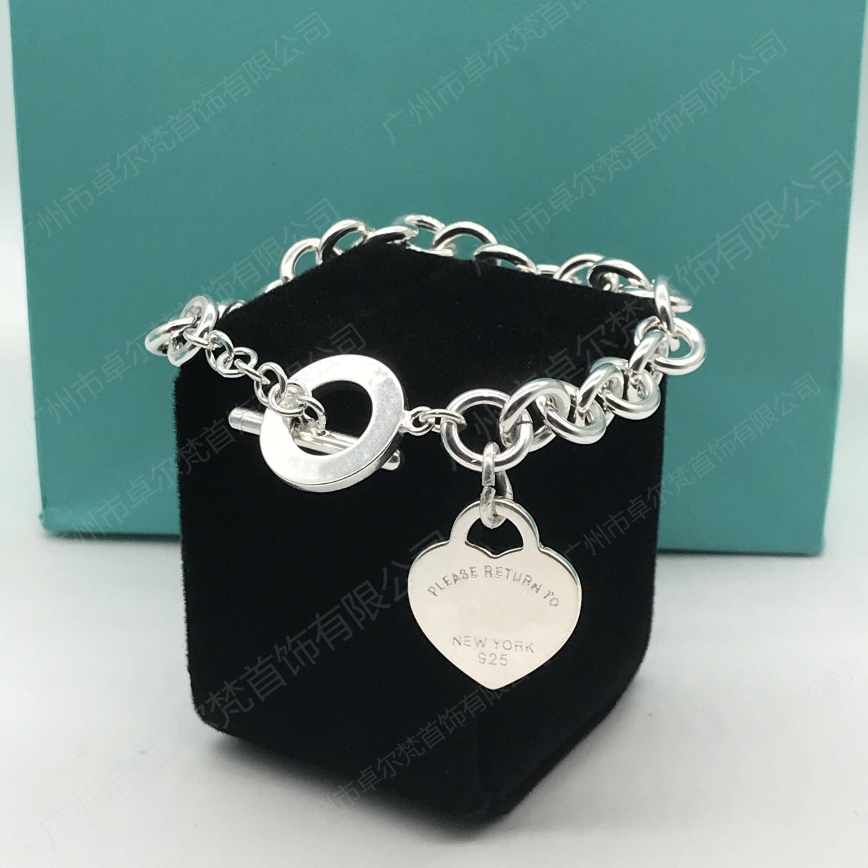 TIF Hot Sale Buckle Design Women's Heart Bracelet in Sterling Silver, High-quality Carter Bracelet, Fine Fashion Jewellery