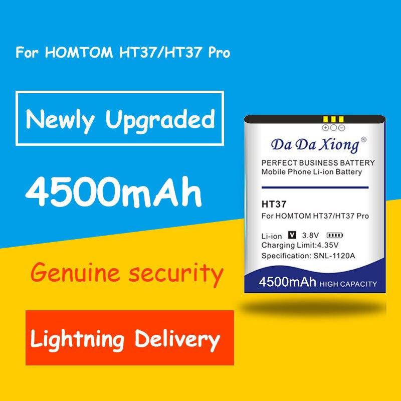 High capacity 4500mAh for HOMTOM HT37 HOMTOM HT37 Pro Battery Accumulator AKKU Mobile Phone Batteria+Free shipping(China)