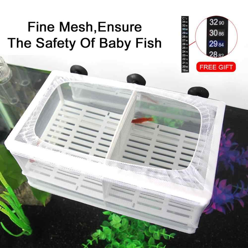 SENZEAL ถังปลา Aquarium Breeding ปลาทารก TRAP กล่องแยก Hatchery Incubator ตาข่าย 3pcs Pipette S/L ขนาดกะทัดรัด