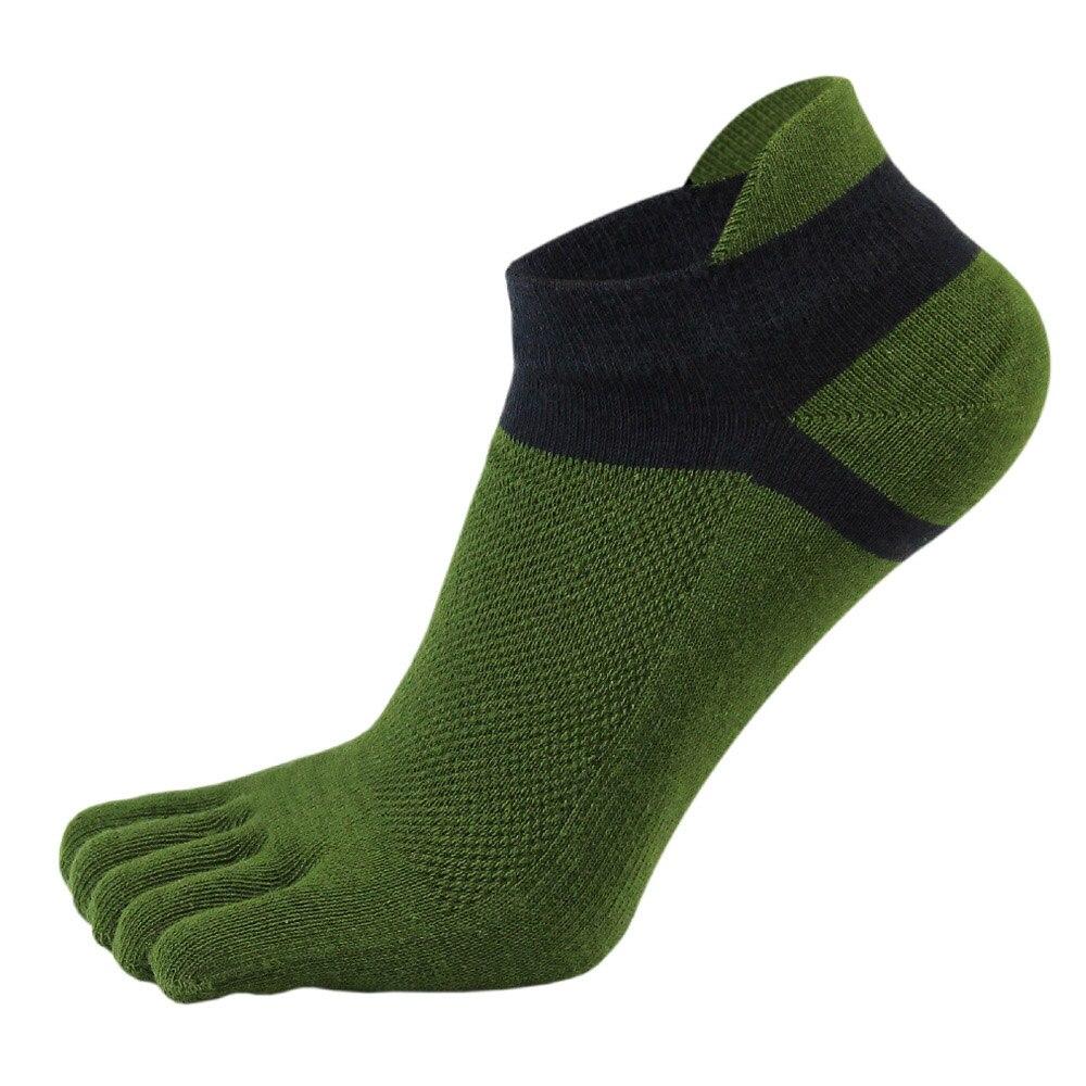 38-43 Men Outdoor Sports Bicycle Socks 1Pair Breathable 5 Finger Toe Slipper Sock Coolmax Pro Cycling Running Socks BC0337 (2)