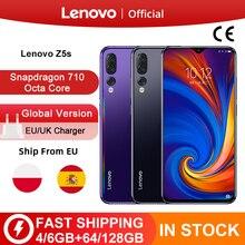 Phiên Bản toàn cầu Lenovo Z5s Snapdragon 710 Octa core 64GB 128GB Điện Thoại Thông Minh Mặt ID 6.3inch Android P Ba camera sau