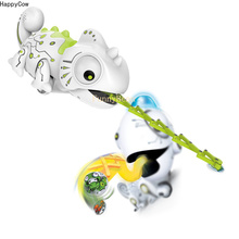 R/C Chameleon Plastic Cartoon Toy Catch Food by Magnetic 4pc