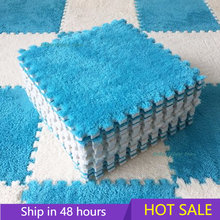 10 pz morbido peluche tappetino per bambini tappetino da gioco per bambini giocattoli per bambini schiuma Eva Puzzle tappeto In camera dei bambini tenere caldo tappetino da gioco 30*30*0.8CM