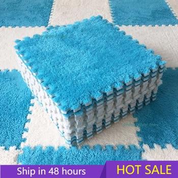 10 Pcs Soft Plush Children's Mat Baby Play Mat Baby Toys Eva Foam Puzzle Carpet In Children's Room Keep Warm Playmat 30*30*0.8CM