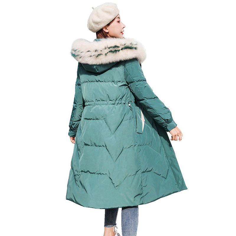 Autumn Winter Women Parkas   Down     Coat   Jacket 80% Duck   Down   Fox Fur Hoody Lady Winter Outerwear   Coats   LF9132