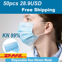 Disposable Dustproof Mouth Mask 3 Layers Non-Woven Surgical Medical Earloop Mouth-Muffle Respirator