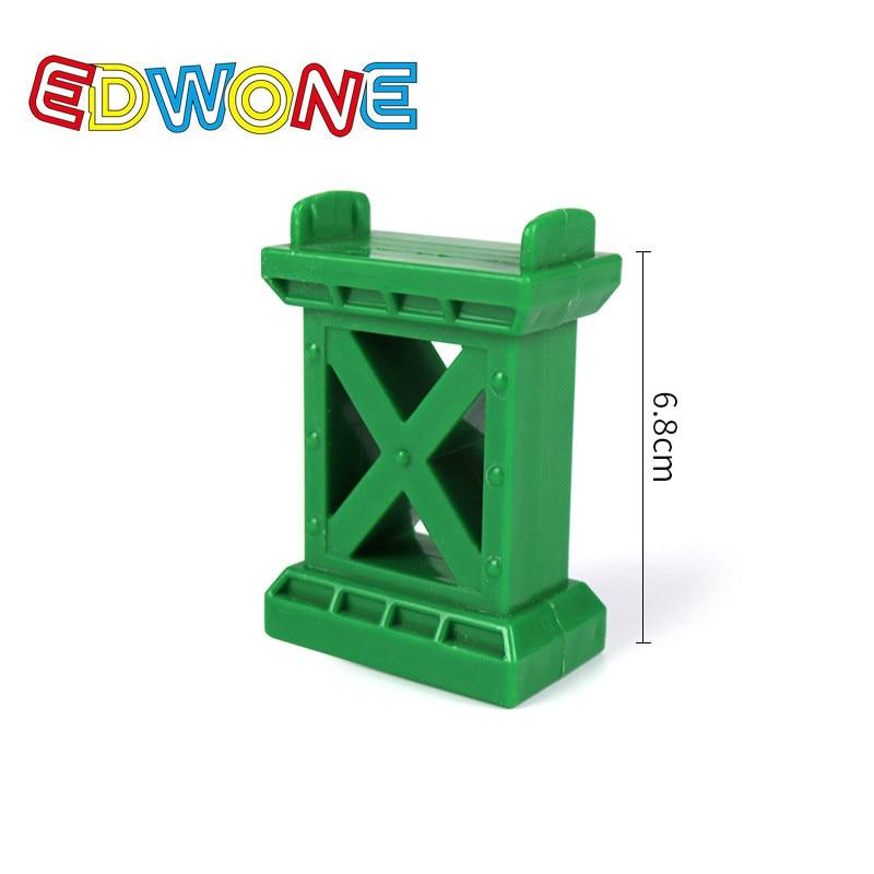 EDWONE Новые все виды деревянных дорожек части бука деревянная железная дорога железнодорожные пути игрушки аксессуары подходят Томас Биро деревянные дорожки - Цвет: GREEN BRIDGE PIER