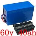 Батарея ebike 60 в 2000 Вт 3000 Вт  литиевый аккумулятор для скутера 60 в 40 Ач  аккумулятор для скутера 60 в 40 ач с зарядным устройством
