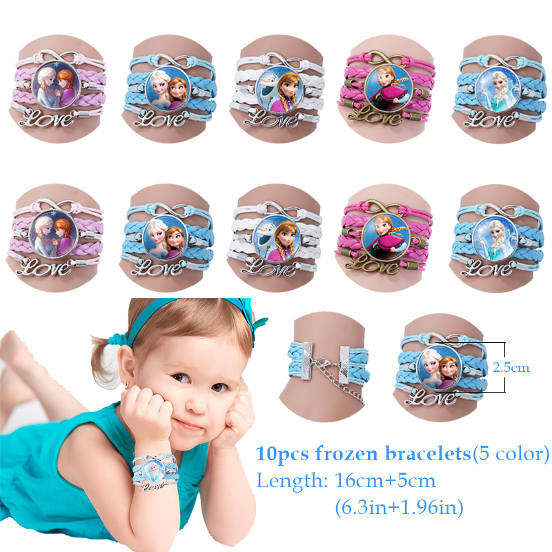 Image 2 - 60pcs Frozen Party Favors For Kids Birthday With Frozen Love Bracelet/Rings 3D Disney Bubble Stickers Baby Shower Gifts Bags Christmas-in Party Favors from Home & Garden