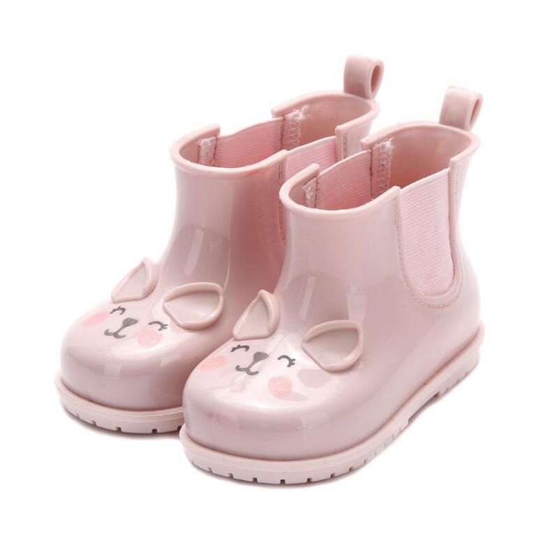 # Fashion Kid Girls Slip Water Shoes Rain Boots Jelly Soft Rubber Bowknot USA