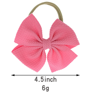 Image 5 - 30Pcs Small Bow Headband Baby Girls Hair Accessories Photo Props Lovely Pirincess Gift Nylon Hair Ties Toddler BowKnot Hair Band