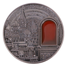 Ruissia Embossed Kremlin commemorative coin Collectible Collection Gift Coins Bedge Drop Shipping