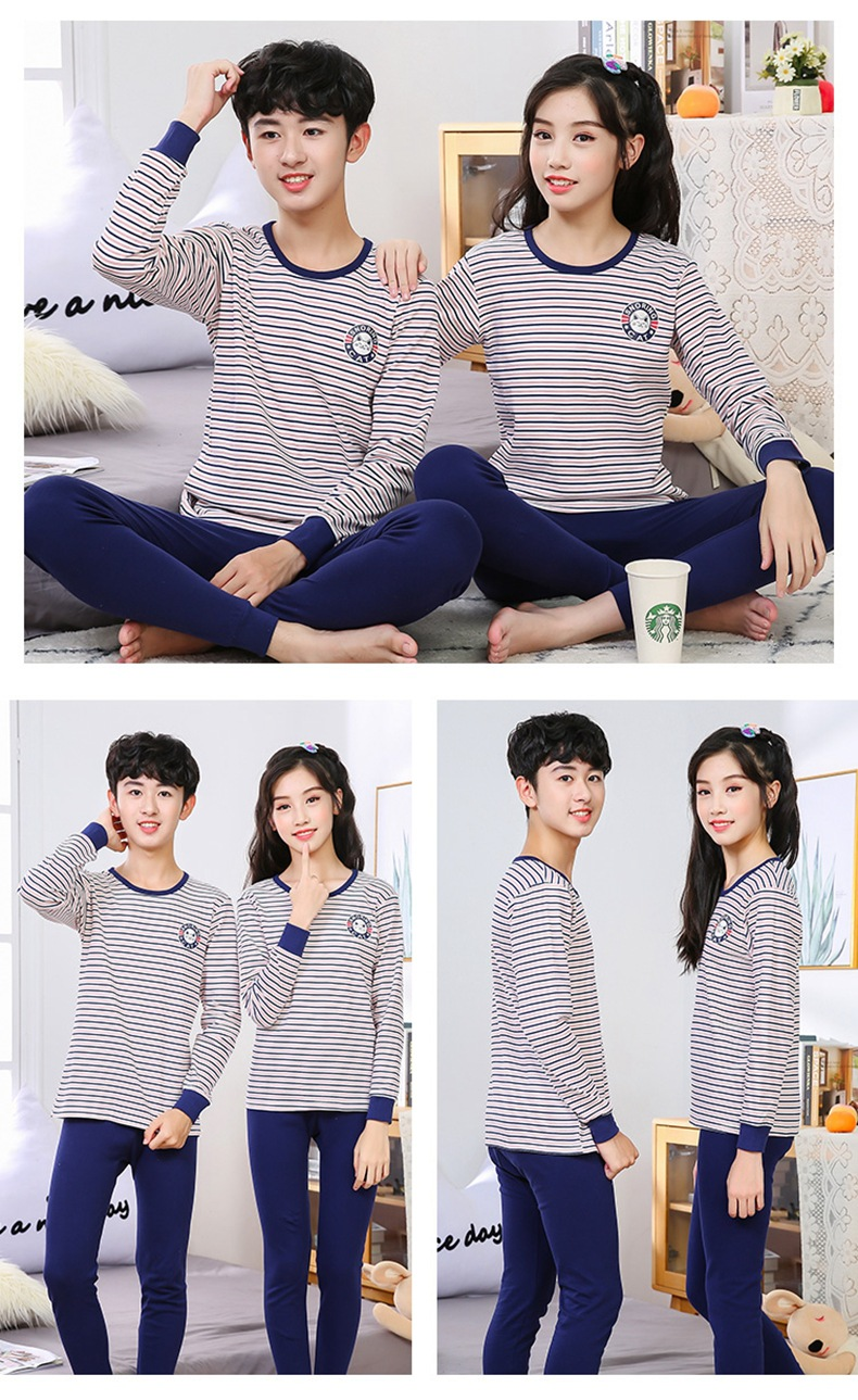 Teenager pajamas Long Sleeve 100% Cotton Pyjamas Big Kids Clothes Sets Cartoon Boys Sleepwear Pajamas for girls 10 12 14 16 Yrs
