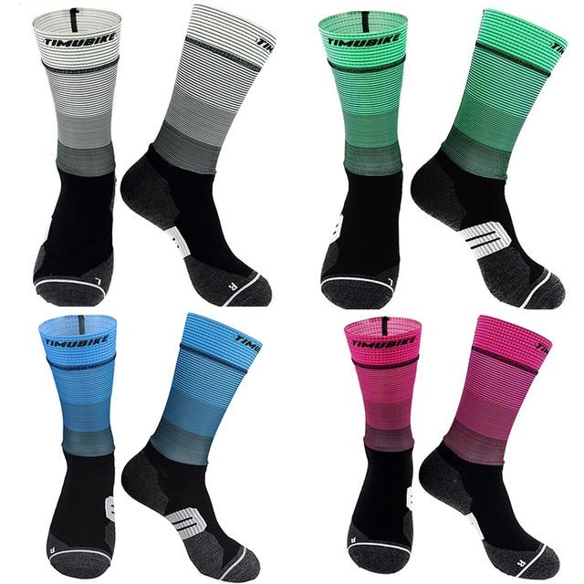 Anti derrapante profissional bicicleta meias meias de compressão esporte meias de rua esportes meias de corrida ciclismo 4