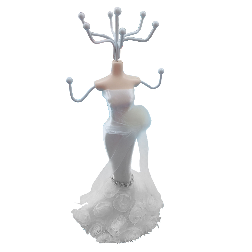 Elegant Mannequin Jewelry Display Stand Organizer Rack Hanger Home Decor Dresser Ornaments