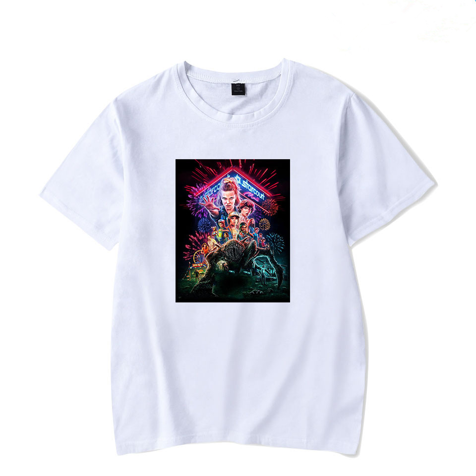 BTFCL Stranger Things T Shirt 2019 Anime Tshirt Women Men Summer Short Sleeve Cotton Tshirts Hot Sale Casual Streetwear T Shirts in T Shirts from Women 39 s Clothing