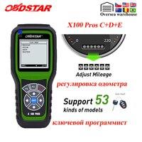 Programador de llave automática OBDSTAR X100 PROS C + D + E que incluye EEPROM x100 pro para inmovilizador + corrección de odómetro + reemplazo OBD X 100 PRO|correction tool|obdstar x-100|auto key programmer -