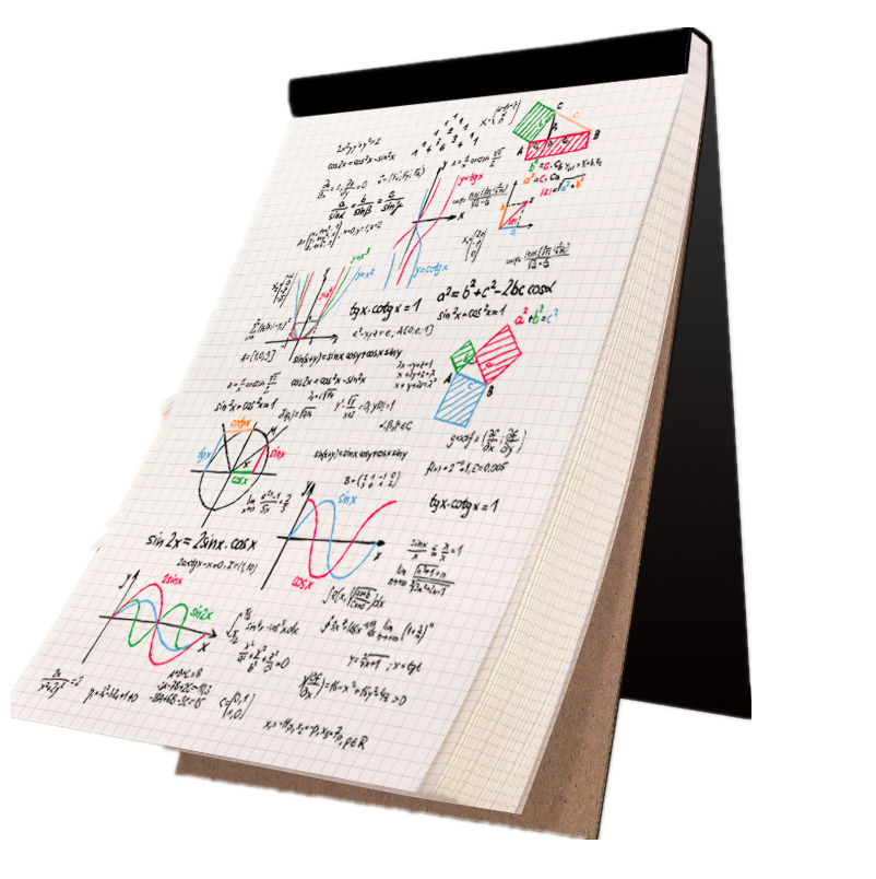 A4/A5/B5 Writing Notebook Grid Plank Line Notepad  Memo Pad Business School Stationary Painting