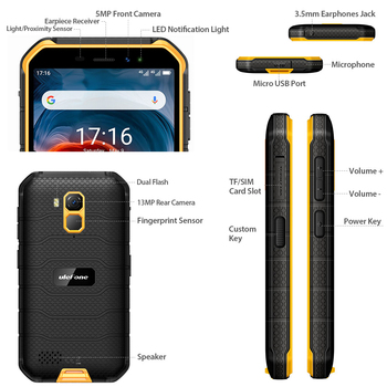 Ulefone Armor X7 Pro Android10 Rugged Phone 4GB RAM Smartphone Waterproof Mobile Phone Cell Phone ip68 NFC 4G LTE  2.4G/5G WLAN 4