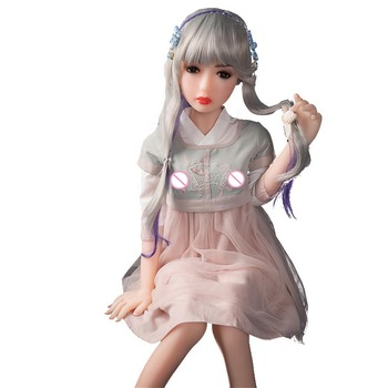 Factory Price Young Girl 125cm Artificial Female Sex Doll Silicone White Tan Skin A-Cup Breast Small Butt Sex Toy For Men