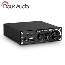 Doukオーディオbluetooth 5.0パワーアンプステレオ2.0 chサブウーファーアンプ高音低音調整usbロスレス音楽プレーヤー320ワット