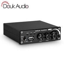 Douk de audio Bluetooth 5,0 AMPLIFICADOR DE POTENCIA ESTÉREO 2,0 Subwoofer Ch Amp agudos bajo ajustar USB sin pérdidas reproductor de música 320W