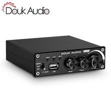 Douk ses Bluetooth 5.0 güç amplifikatörü Stereo 2.0 Ch Subwoofer Amp tiz bas ayarlamak USB kayıpsız müzik çalar 320W