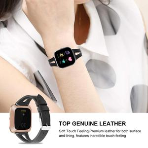 Image 5 - Printing leather Watch band For Fitbit Versa 2 Smart Watch Pattern Bracelet Band for fitbit versa / versa lite correa