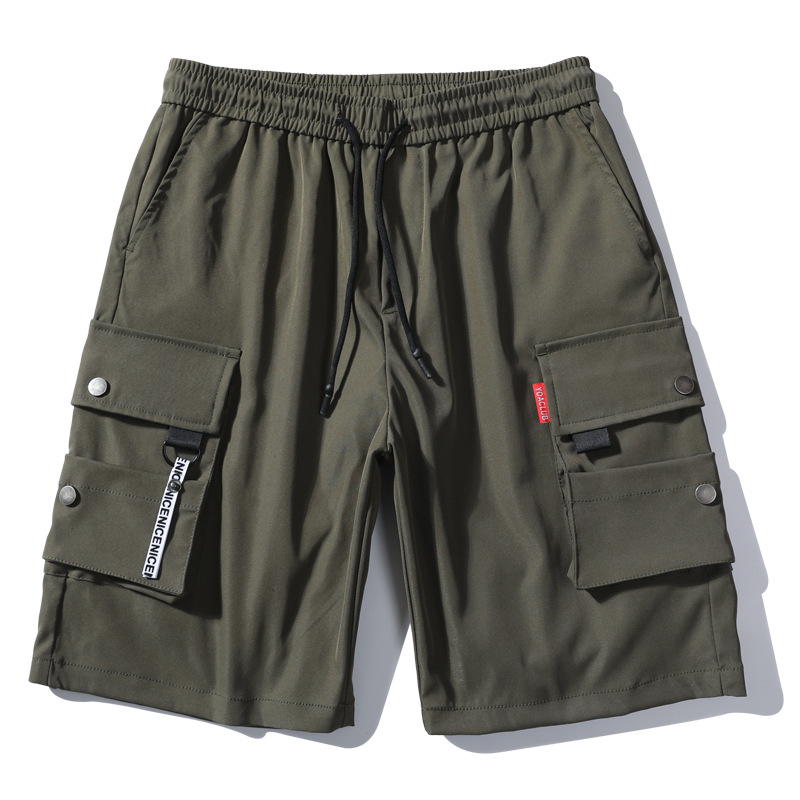 Hot 2020 Elastic Men's Overalls Cargo Street Loose Multi-pocket Casual Short Trousers Hip-hop Sports Hiking Travel Shorts Men