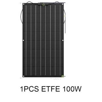 ETFE semi-flexible solar panelsolar célula solar kits de sistema de 12V 12V batería solar 100W 200W 300W 400W