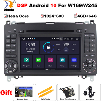 AutoRadio 2Din Android 10 Car Multimedia Player For Mercedes Sprinter Benz B200 Vito W639 Viano B Class W169 W245 W209 GPS Navi image