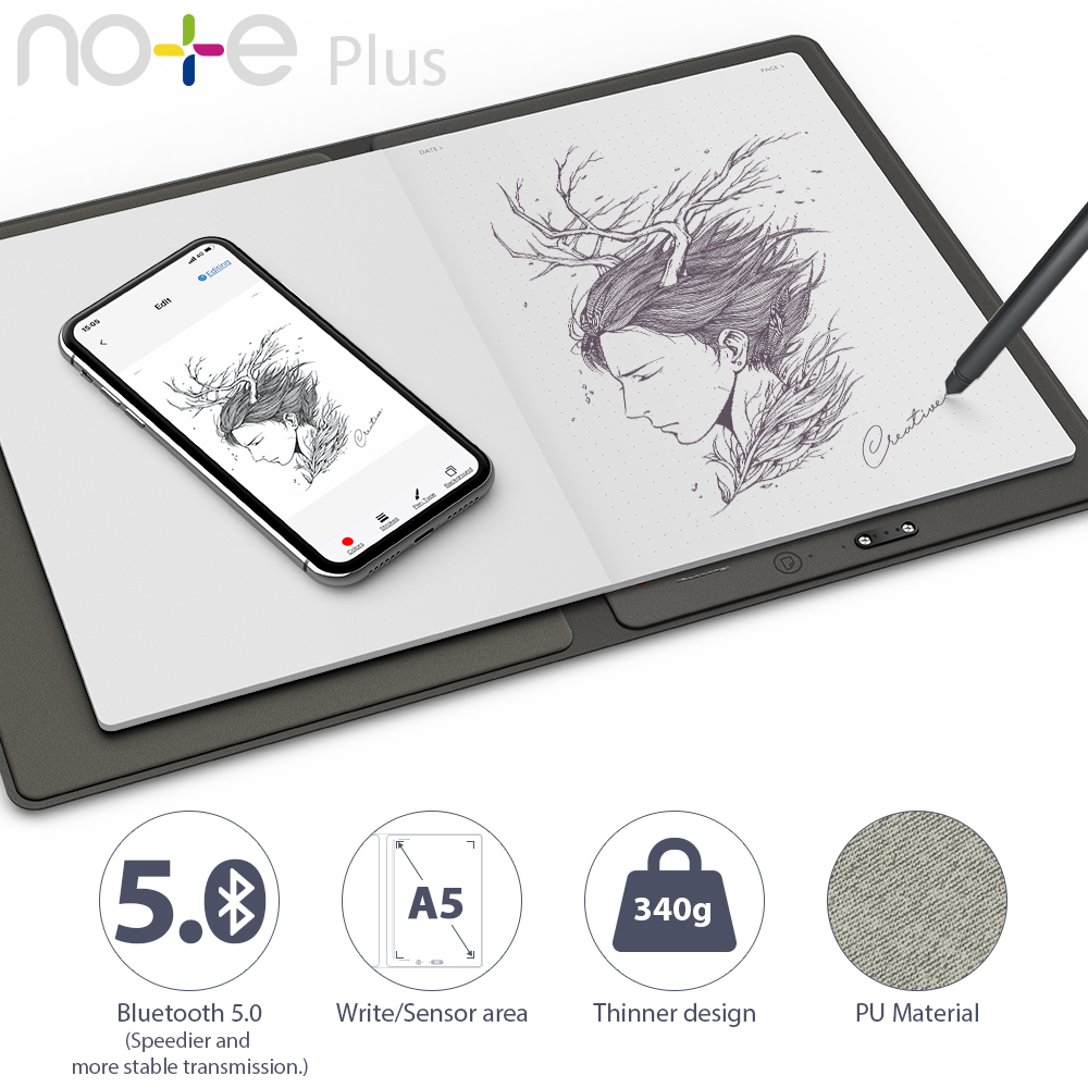 XP-Pen Note Plus Smart Notepad Graphics Tablet /& Stylus