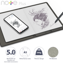 XP Pen Note Plus 스마트 재사용 가능한 지울 수있는 노트북 클라우드 플래시 스토리지 학교 사무용품 App 연결