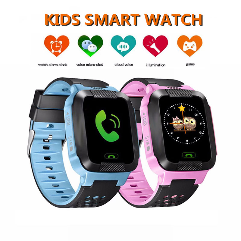 Kids Smart Watch GPRS Fitness Track Watches Children Location SOS Call Anti-lost Touch Screen Smartwatches With Camera Watch