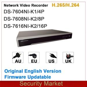 Image 1 - מקורי hikvision אנגלית גרסה NVR Embedded Plug & Play 4/8/16Ch NVR DS 7604NI K1/4P DS 7608NI K2/8P ו DS 7616NI K2/16P
