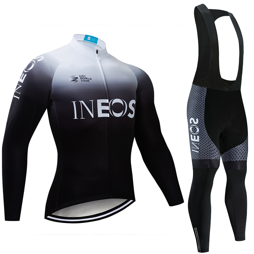 2019 WHITE INEOS TEAM CYCLING JERSEY 20D bike pants Ropa Ciclismo MENS Winter thermal fleece pro BICYCLING jersey Maillot wear-in Cycling Sets from Sports & Entertainment