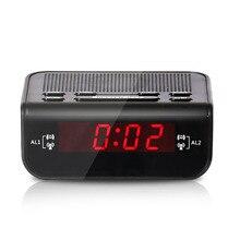 Radio Bedroom Fm Digital Led Home Double Alarm Clock