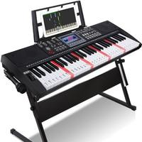 Tastiera di ricarica per pianoforte elettronica portatile intelligente 61 tasti pianoforte elettronico per uso domestico Teclado strumenti musicali per pianoforte DF50DZQ
