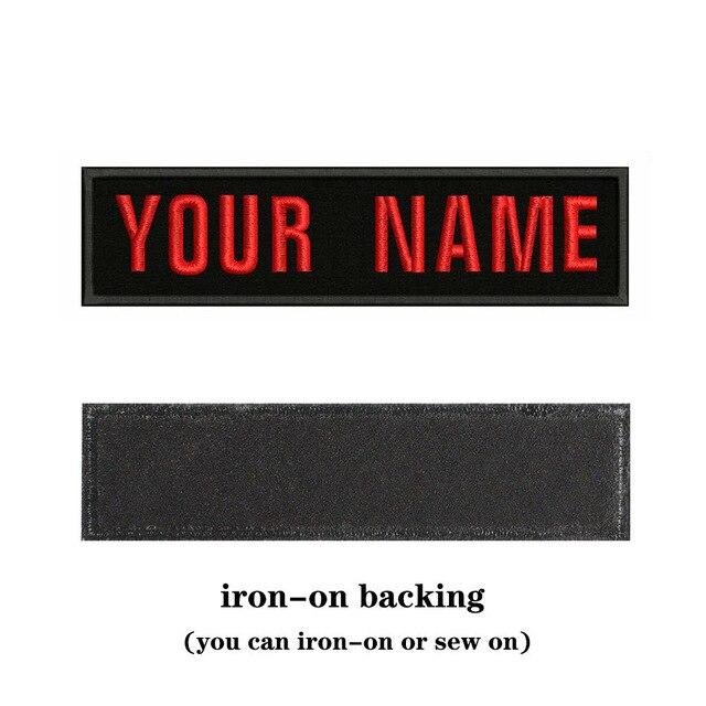 자수 사용자 정의 이름 텍스트 패치 줄무늬 배지 다리미에 또는 바느질에 또는 벨크로 백업 패치 배낭 모자 BS-05A