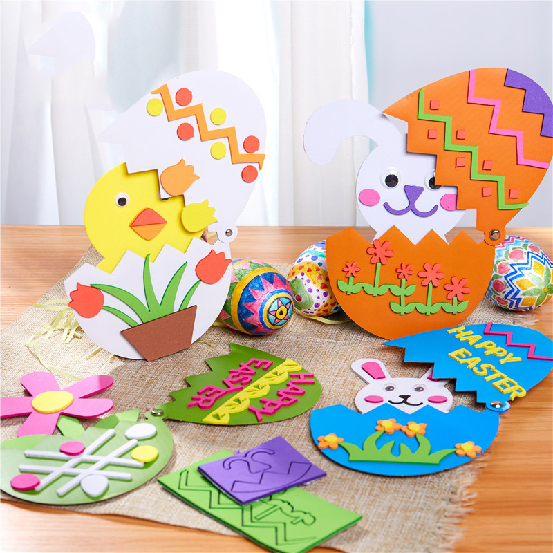 Kindergarten Lots Arts Crafts Diy Toys Easter Bunny Surprise Egg Crafts Kids Educational For Children's Toys Girl/boy Gift 16919