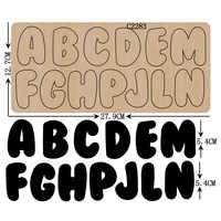 New letter A-Z Wooden die Scrapbooking C-2283 Cutting Dies Multiple sizes