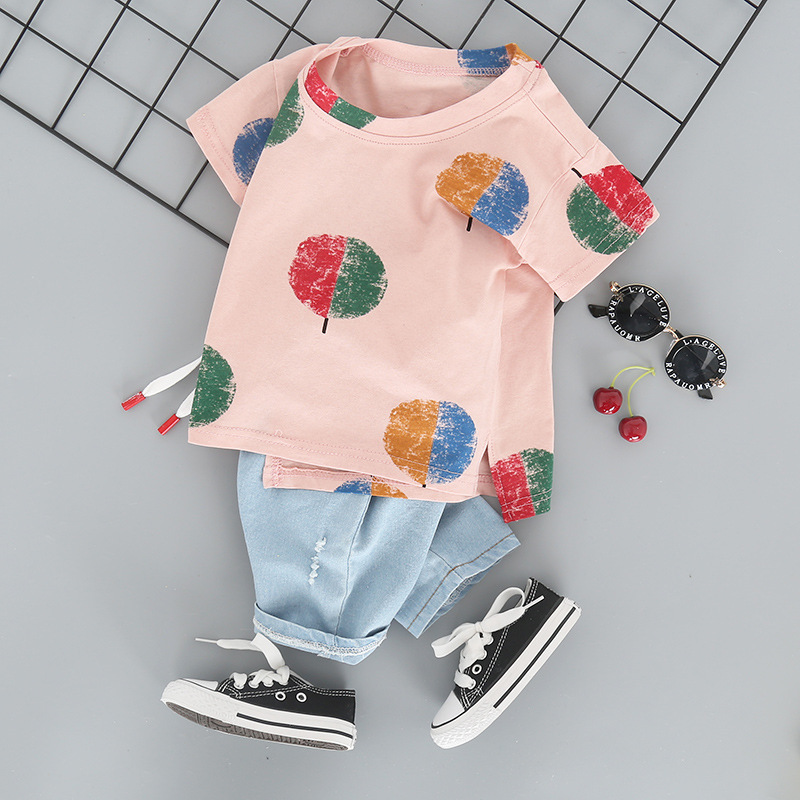 New Style Children's Short Sleeved Two-Piece Set L4.19 3