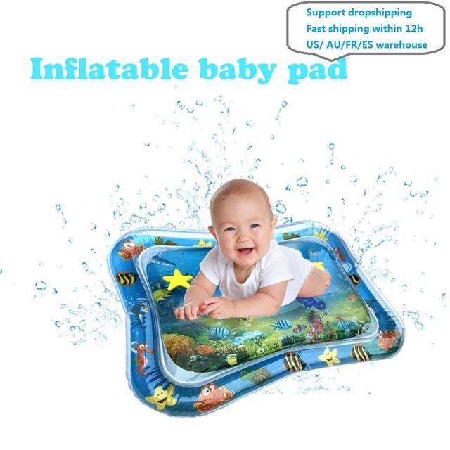 夏インフレータブル水マットのための安全クッションアイスマット早期教育赤ちゃんのおもちゃ