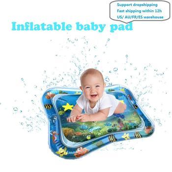 Letnia nadmuchiwana mata wodna dla niemowląt poduszka bezpieczeństwa mata lodowa wczesna edukacja zabawki dla dzieci zagraj tanie i dobre opinie JOCESTYLE Z tworzywa sztucznego CN (pochodzenie) 66x50cm Unisex Sport for Baby Water Mat NONE Cała Other 0-12 miesięcy