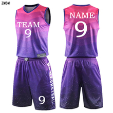 Kids adult throwback basketball jersey set blank Men child tracksuit breathable basketball clothing training uniform customized