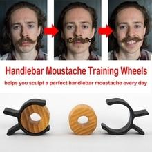 Men Salon Mustache Styling Template for Beard Shaping Styling Tool Good Wood Silica Gel Handlebar Moustache Training Wheels New